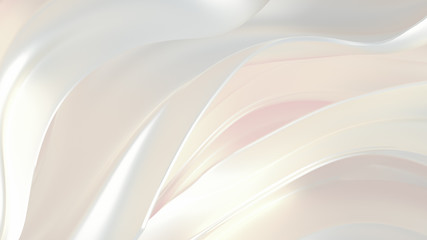 Luxury elegant background abstraction fabric. 3d illustration, 3d rendering.