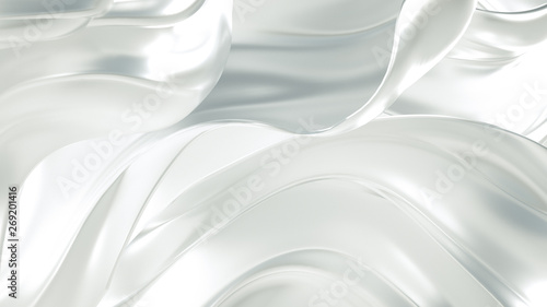 Luxury elegant background abstraction fabric. 3d illustration, 3d rendering. - 269201416
