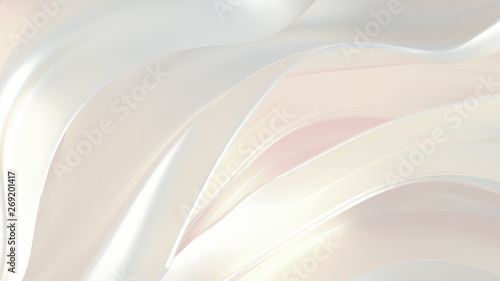 Luxury elegant background abstraction fabric. 3d illustration, 3d rendering. - 269201417