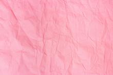 Texture Crumpled Pink Paper