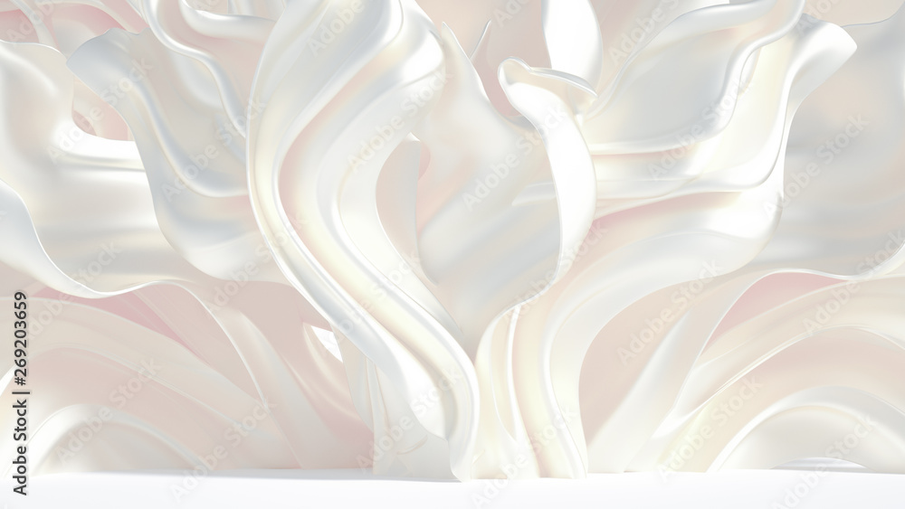 Fototapety, obrazy: Luxury elegant background abstraction fabric. 3d illustration, 3d rendering.