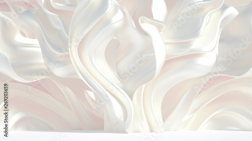 Photo sur Toile Abstract wave Luxury elegant background abstraction fabric. 3d illustration, 3d rendering.