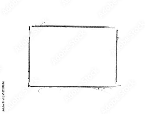 Obraz na płótnie Handgemalter Rahmen mit schwarzer Farbe