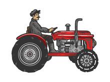 Agricultural Tractor Color Ske...