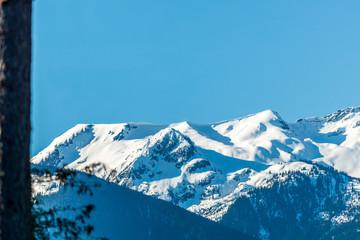 Fototapeta na wymiar View of mountain road in British Columbia, Canada.