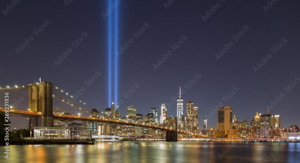 Fototapeta New York City 9/11 Tribute Light