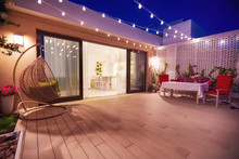 Evening Patio Area With Open S...