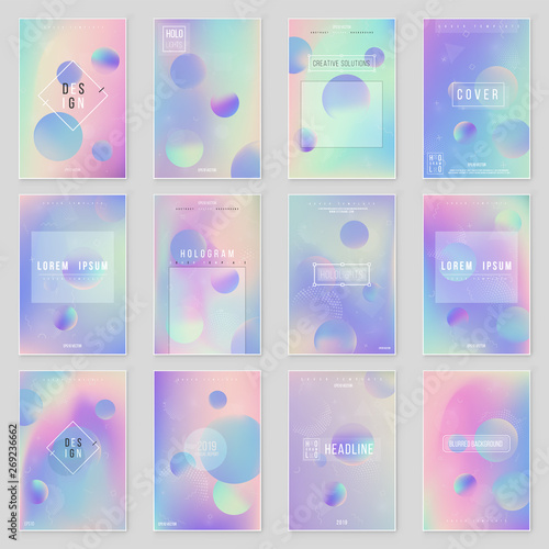 Photo Abstract blurred Holographic gradient background