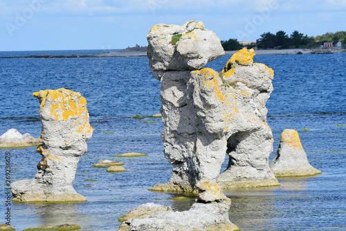 Fotografía  Gamle hamn auf der Insel Farö auf Gotland in Schweden