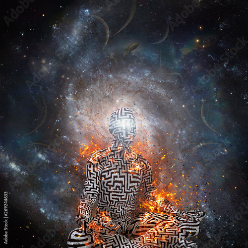 Space meditation Canvas Print