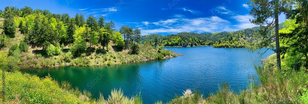 Fototapety, obrazy: Typical mountain lake landscape, Italy.