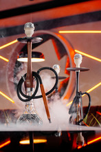 Black Hookah And Hookah With A...