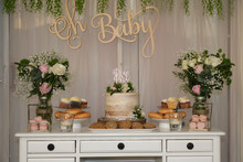 Baby Shower Cake Table, Rustic...