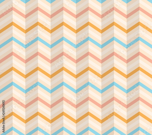 Fotobehang ZigZag Colorful Seamless Chevron Pattern