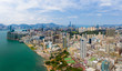 panoramic shot for the city in Hong Kong