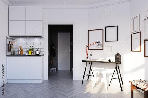 Photo  scandinavian style  interior.