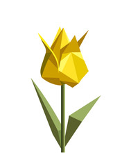 Yellow Origami Tulip