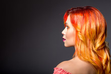Beautiful Woman Portrait With Red Hair