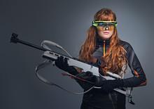 Redhead Biatlon Female Sportsm...
