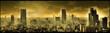 canvas print picture - Nuclear city, apocalyptic landscape, digital art