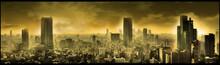 Nuclear City, Apocalyptic Landscape, Digital Art