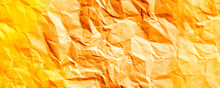 Crumpled Paper Texture Orange Vintage Toned