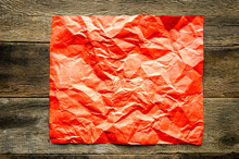 Crumpled Paper Texture Red
