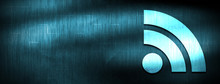 RSS Feed Icon Abstract Blue Banner Background