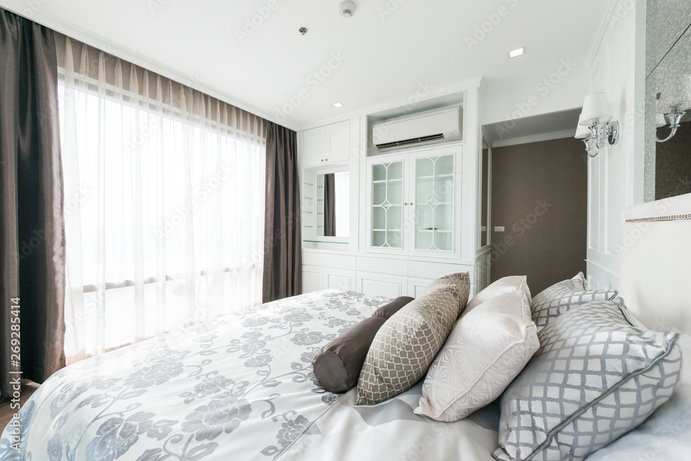 Fototapety, obrazy: Beautiful Interior design modern Bedroom