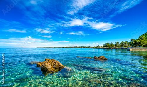 Poster Coast Adriaküste bei Porec, Istrien, Kroatien