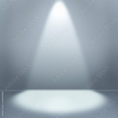 Fototapety, obrazy: Empty room with illumination