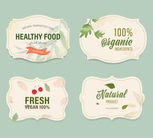 Vintage Label Banner Badges Set. Luxury Decoration Design. Hign Quality Tag Premium Guaranteed.