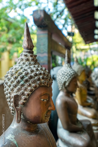 Buddha Statues, Gangaramaya Temple, Columbo, Sri Lanka Wallpaper Mural