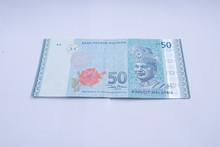 50 Ringgits Bank Note. Ringgit...