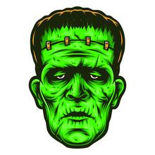 Frankenstein Vector Logo And Cartoon