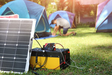Solar Chargers For Camping, Power Box Battery Camping And Flexible Solar Panels