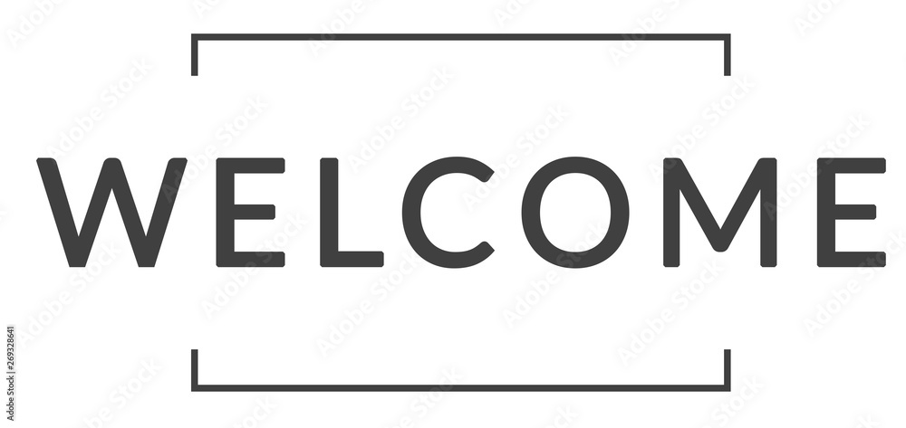 Fototapeta welcome web Headline