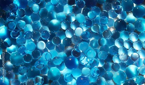 Pinturas sobre lienzo  Water blue gel balls