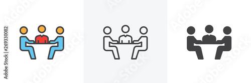 Fotografía Business meeting icon