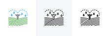 Irrigation Sprinklers Icon. Li...