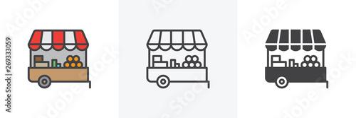 Farmers market stall icon Slika na platnu
