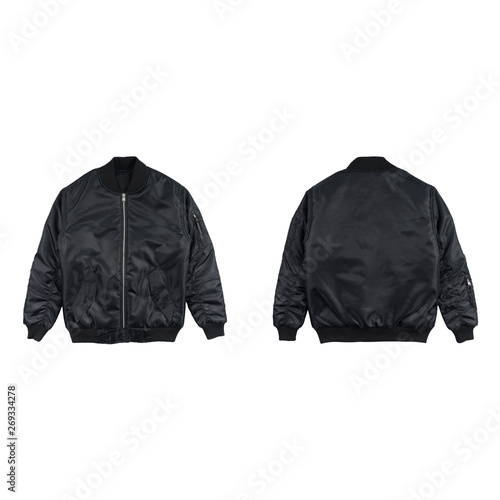 Blank plain bomber jacket isolated on white background Fototapet