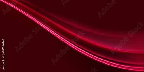 Cadres-photo bureau Fractal waves Background for design color burgundy with wave