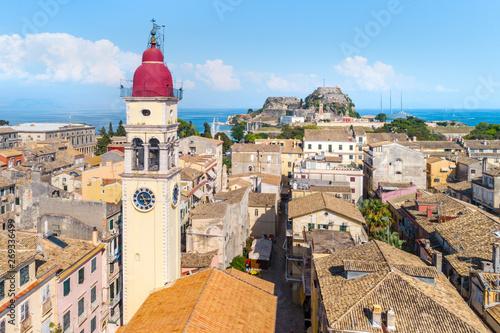 Foto  Panoramic view of Kerkyra, capital of Corfu island