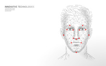 Low Poly Male Human Face Biome...