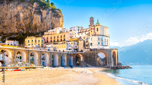 Photo Amalfi cityscape on coast line of mediterranean sea, Italy