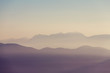 canvas print picture Mountains silhouette