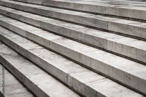 Pattern of large marble stairs outdoor
