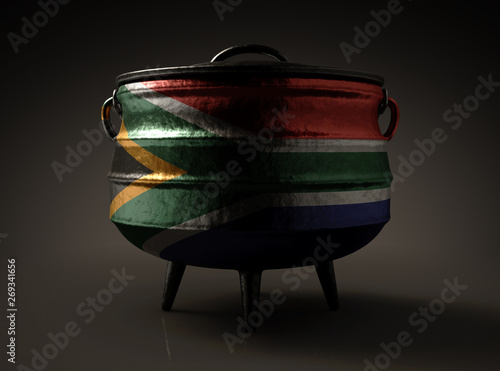 South African Potjie Pot Canvas