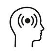 Ból głowy logo wektor